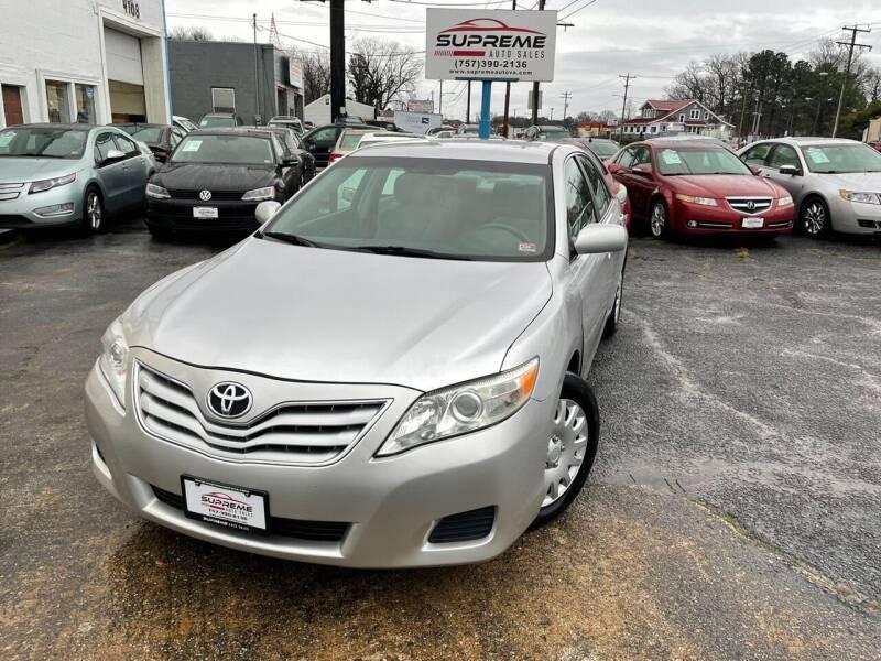 2010 Toyota Camry for sale at Supreme Auto Sales in Chesapeake VA