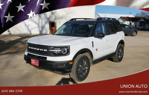 2021 Ford Bronco Sport for sale at Union Auto in Union IA