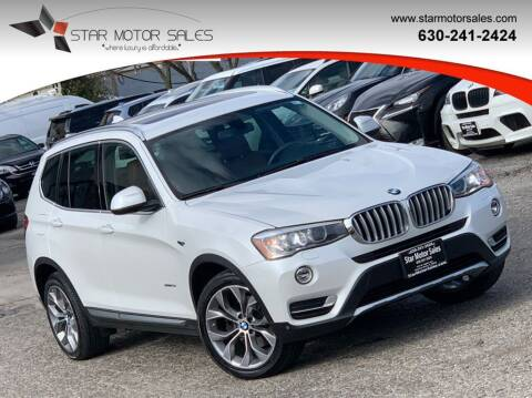 2015 BMW X3 for sale at Star Motor Sales in Downers Grove IL