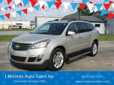 2014 Chevrolet Traverse for sale at J Moores Auto Sales Inc in Kinston NC