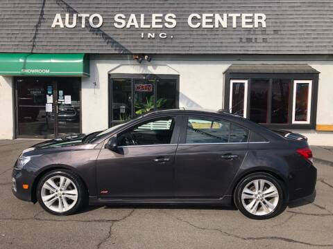 2015 Chevrolet Cruze for sale at Auto Sales Center Inc in Holyoke MA
