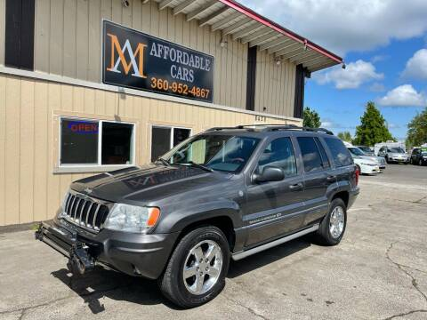2004 Jeep Grand Cherokee for sale at M & A Affordable Cars in Vancouver WA