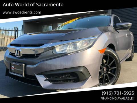 2018 Honda Civic for sale at Auto World of Sacramento Stockton Blvd in Sacramento CA