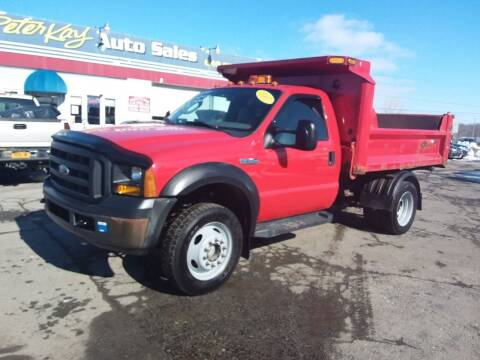 2007 Ford F-550 Super Duty for sale at Peter Kay Auto Sales in Alden NY