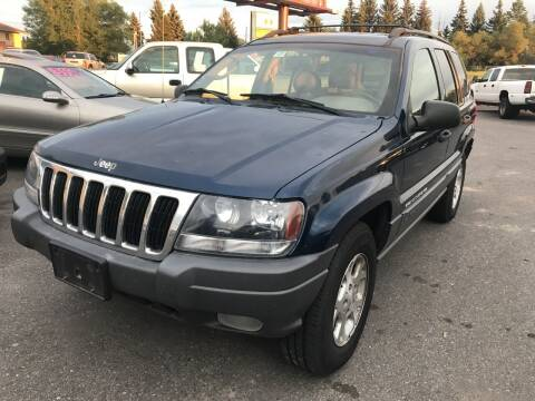 2002 Jeep Grand Cherokee for sale at BELOW BOOK AUTO SALES in Idaho Falls ID