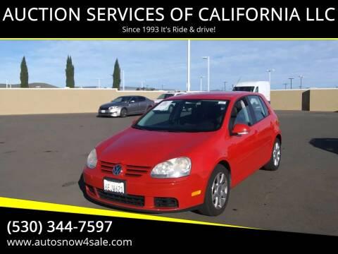 2008 Volkswagen Rabbit for sale at AUCTION SERVICES OF CALIFORNIA in El Dorado CA