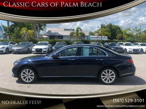 2018 Mercedes-Benz E-Class for sale at Classic Cars of Palm Beach in Jupiter FL