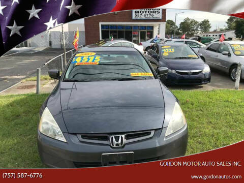 2003 Honda Accord for sale at Gordon Motor Auto Sales Inc. in Norfolk VA