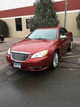 2013 Chrysler 200 Convertible for sale at Specialty Auto Wholesalers Inc in Eden Prairie MN