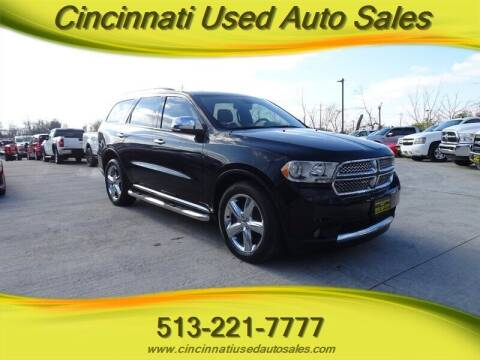 2011 Dodge Durango for sale at Cincinnati Used Auto Sales in Cincinnati OH
