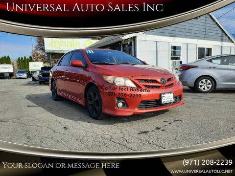 2011 Toyota Corolla for sale at Universal Auto Sales Inc in Salem OR