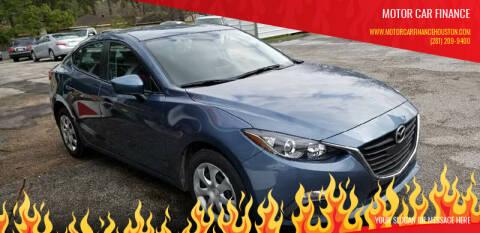2016 Mazda MAZDA3 for sale at MOTOR CAR FINANCE in Houston TX
