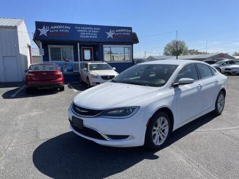 2016 Chrysler 200 for sale at All American Auto Sales LLC in Nampa ID