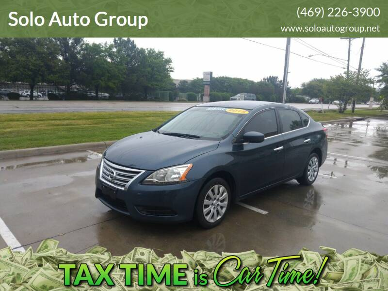 2015 Nissan Sentra for sale at Solo Auto Group in Mckinney TX