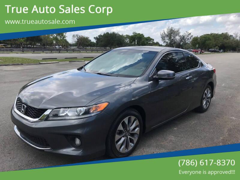 2013 Honda Accord for sale at True Auto Sales Corp in Miami FL