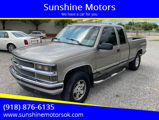 1998 Chevrolet C/K 1500 Series for sale at Sunshine Motors in Bartlesville OK