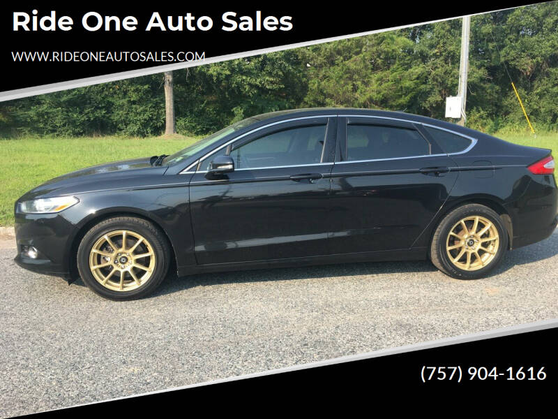 2014 Ford Fusion for sale at Ride One Auto Sales in Norfolk VA