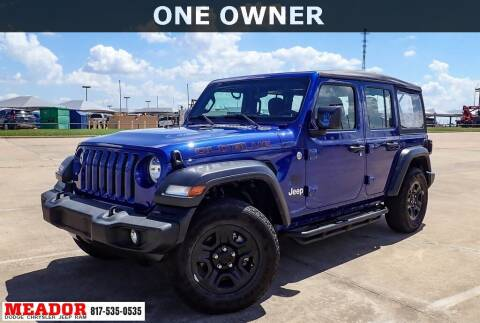 2019 Jeep Wrangler Unlimited for sale at Meador Dodge Chrysler Jeep RAM in Fort Worth TX