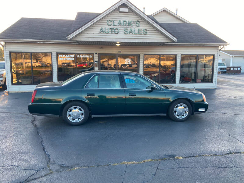 2000 Cadillac DeVille for sale at Clarks Auto Sales in Middletown OH