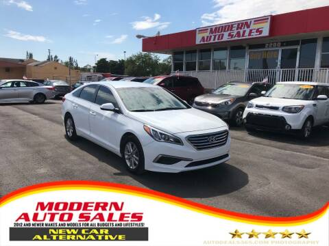 2017 Hyundai Sonata for sale at Modern Auto Sales in Hollywood FL