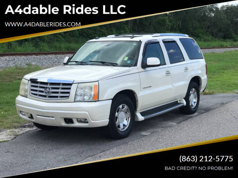 2004 Cadillac Escalade for sale at A4dable Rides LLC in Haines City FL