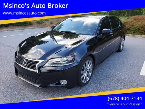 2013 Lexus GS 350 for sale at Msinco's Auto Broker in Snellville GA