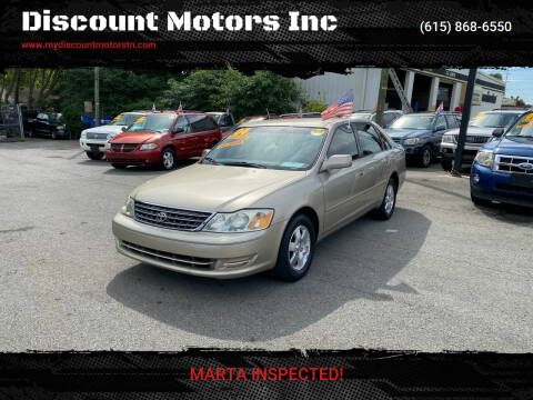 2004 Toyota Avalon for sale at Discount Motors Inc in Madison TN