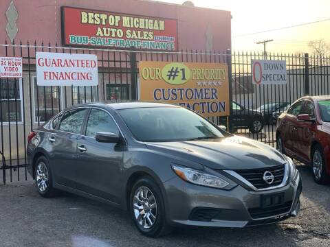 2016 Nissan Altima for sale at Best of Michigan Auto Sales in Detroit MI