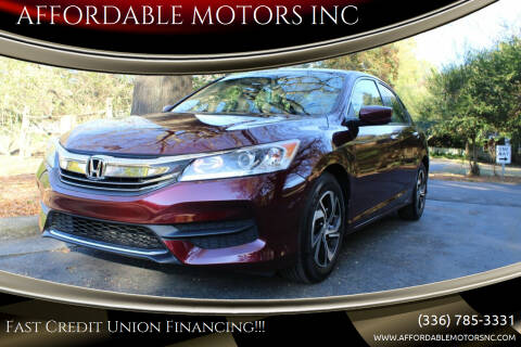 2016 Honda Accord for sale at AFFORDABLE MOTORS INC in Winston Salem NC