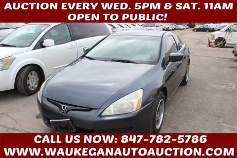 2003 Honda Accord for sale at Waukegan Auto Auction in Waukegan IL