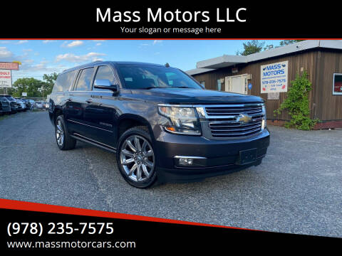 2015 Chevrolet Suburban for sale at Mass Motors LLC in Worcester MA