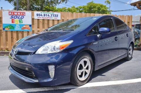 2015 Toyota Prius for sale at ALWAYSSOLD123 INC in Fort Lauderdale FL