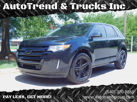 2013 Ford Edge for sale at AutoTrend & Trucks Inc in Fredericksburg VA