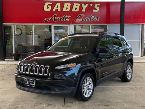 2016 Jeep Cherokee for sale at GABBY'S AUTO SALES in Valparaiso IN