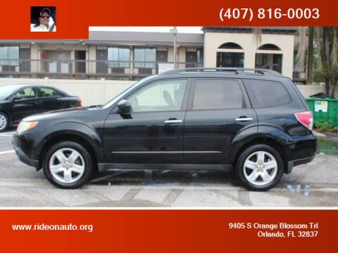 2009 Subaru Forester for sale at Ride On Auto in Orlando FL