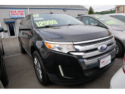 2012 Ford Edge for sale at M & R Auto Sales INC. in North Plainfield NJ