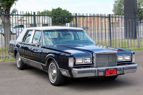 1988 Lincoln Town Car for sale at Avanesyan Motors in Orem UT