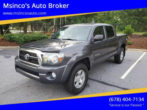 2011 Toyota Tacoma for sale at Msinco's Auto Broker in Snellville GA