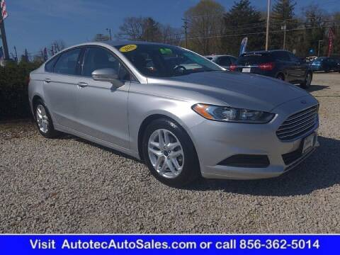 2016 Ford Fusion for sale at Autotec Auto Sales in Vineland NJ