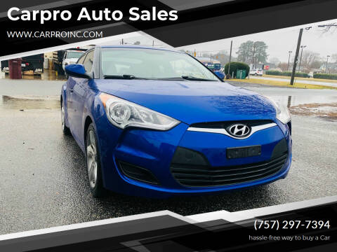 2012 Hyundai Veloster for sale at Carpro Auto Sales in Chesapeake VA