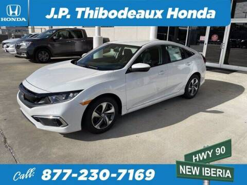 2021 Honda Civic for sale at J P Thibodeaux Used Cars in New Iberia LA