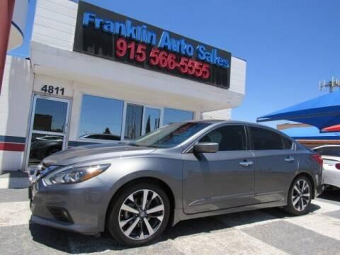 2016 Nissan Altima for sale at Franklin Auto Sales in El Paso TX