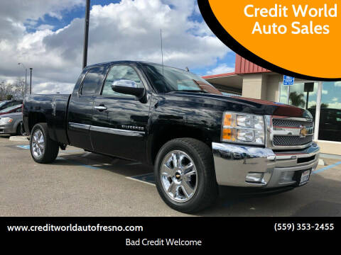 2013 Chevrolet Silverado 1500 for sale at Credit World Auto Sales in Fresno CA