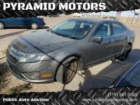 2010 Ford Fusion for sale at PYRAMID MOTORS - Pueblo Lot in Pueblo CO