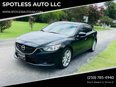 2014 Mazda MAZDA6 for sale at SPOTLESS AUTO LLC in San Antonio TX