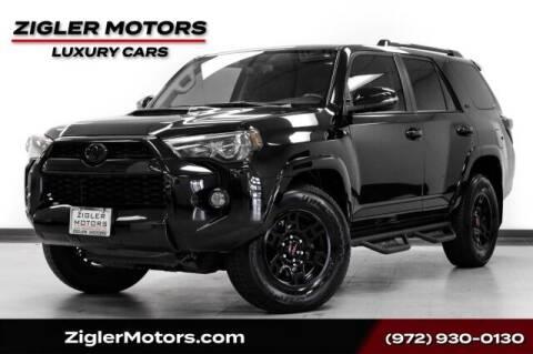 2016 Toyota 4Runner for sale at Zigler Motors in Addison TX