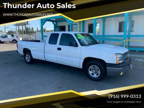 2003 Chevrolet Silverado 1500 for sale at Thunder Auto Sales in Sacramento CA
