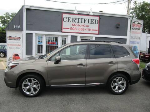 2017 Subaru Forester for sale at CERTIFIED MOTORCAR LLC in Roselle Park NJ