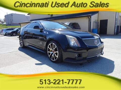 2012 Cadillac CTS-V for sale at Cincinnati Used Auto Sales in Cincinnati OH