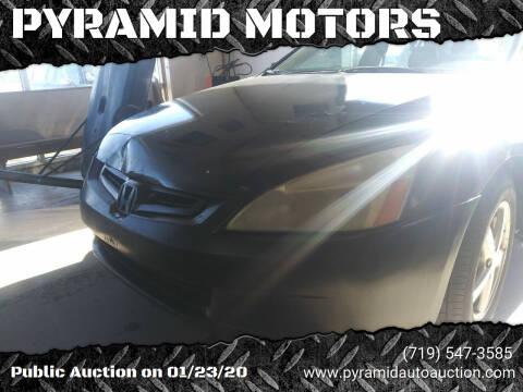 2003 Honda Accord for sale at PYRAMID MOTORS - Pueblo Lot in Pueblo CO